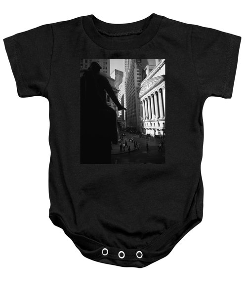 Silhouette Of George Washington Statue Baby Onesie