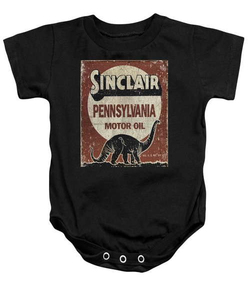 Sinclair Motor Oil Can Baby Onesie