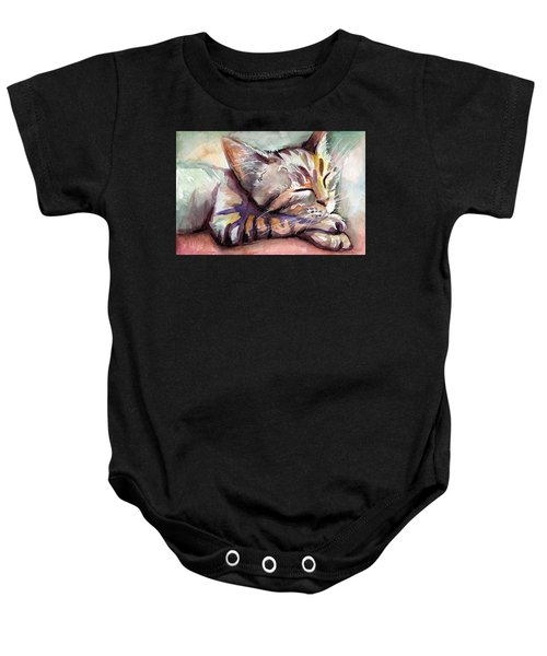 Sleeping Kitten Baby Onesie