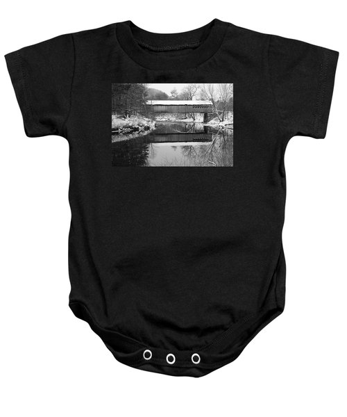 Snow Covered Coombs Baby Onesie