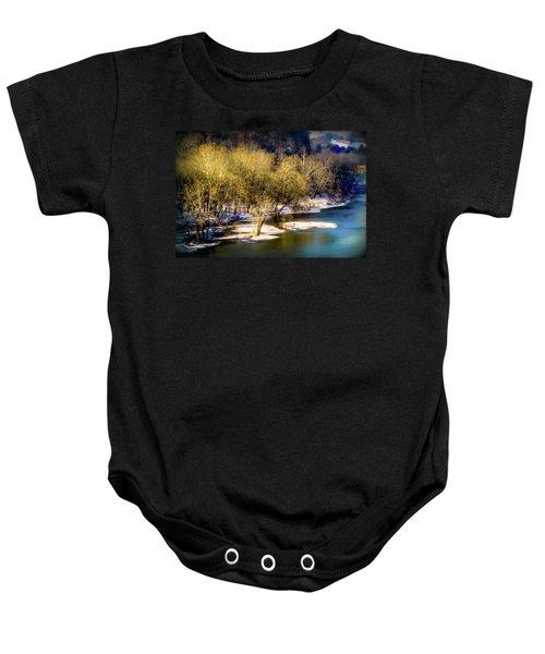 Snowy River Baby Onesie by Karen Wiles