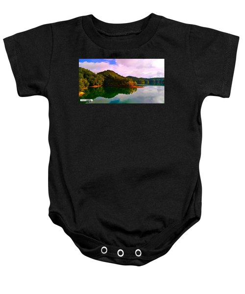 North Holston Lake Mountains Baby Onesie