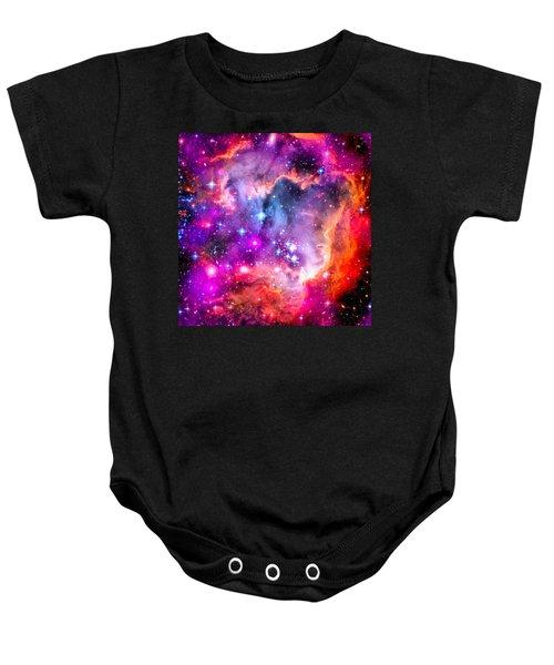 Space Image Small Magellanic Cloud Smc Galaxy Baby Onesie by Matthias Hauser