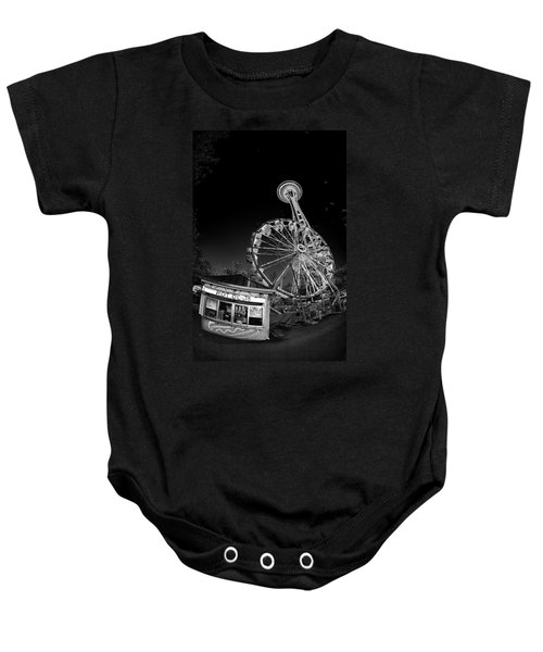 Space Needle Fights The End Of The World Baby Onesie