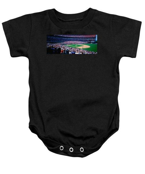 Spectators In A Baseball Stadium, Shea Baby Onesie