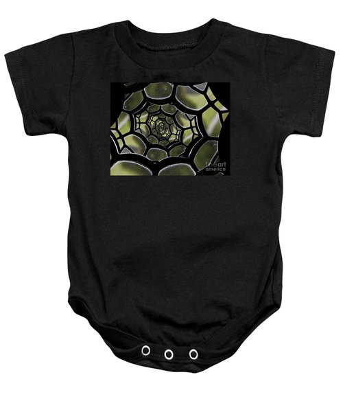 Baby Onesie featuring the photograph Spider's Web. by Clare Bambers