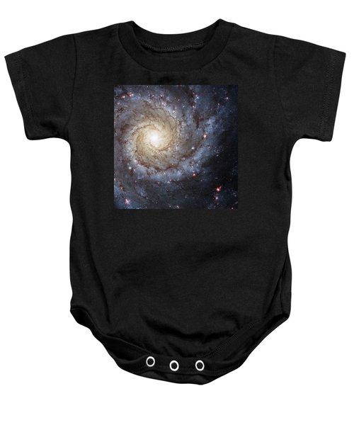 Spiral Galaxy M74 Baby Onesie