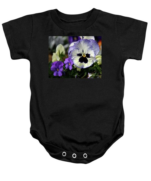 Spring Pansy Flower Baby Onesie