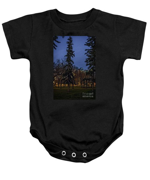 Spruce Tree At The Square Baby Onesie