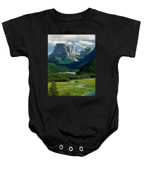 Squaretop Mountain 3 Baby Onesie
