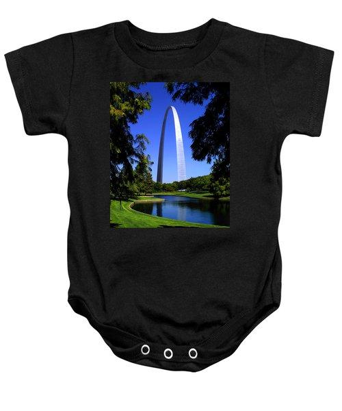 St Louis Gateway Arch Baby Onesie