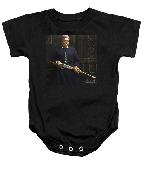 Stagecoach Mary Fields 20130518 Square With Text Baby Onesie
