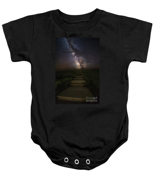 Stairway To The Galaxy Baby Onesie