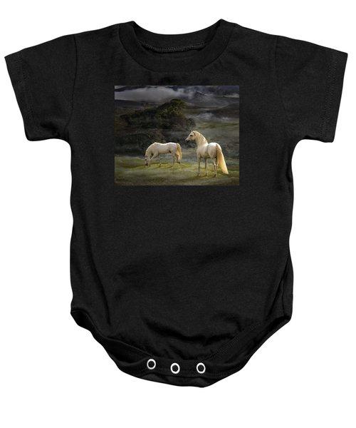 Stallions Of The Gods Baby Onesie