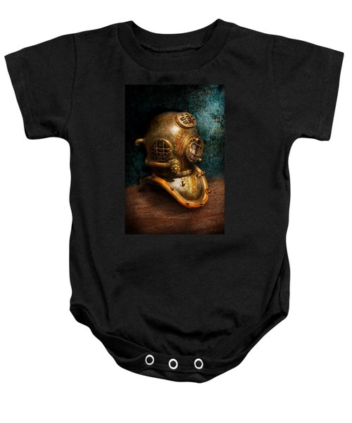 Steampunk - Diving - The Diving Helmet Baby Onesie