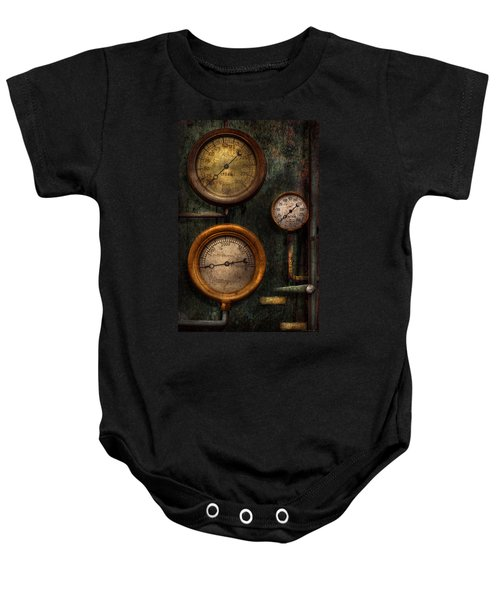 Steampunk - Plumbing - Gauging Success Baby Onesie