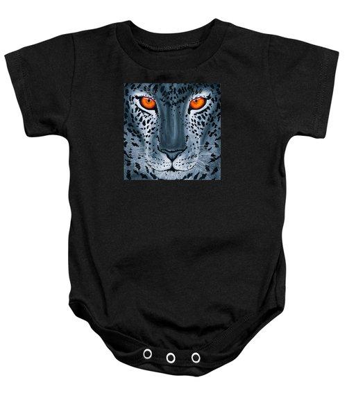 Steel Leopard Baby Onesie