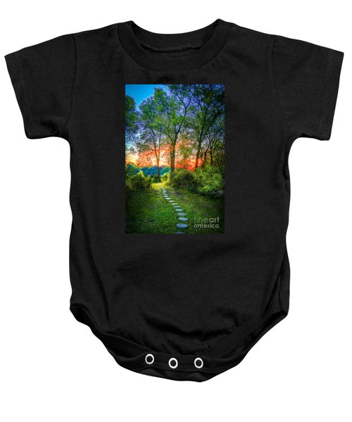 Stepping Stones To The Light Baby Onesie by Marvin Spates