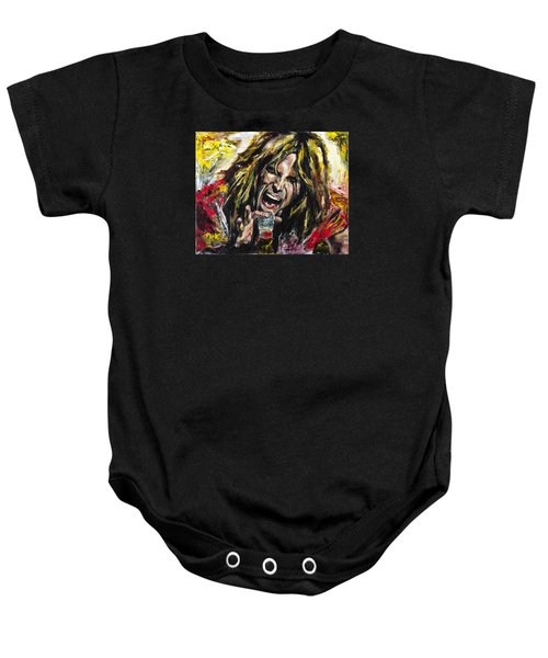 Steven Tyler Baby Onesie by Mark Courage