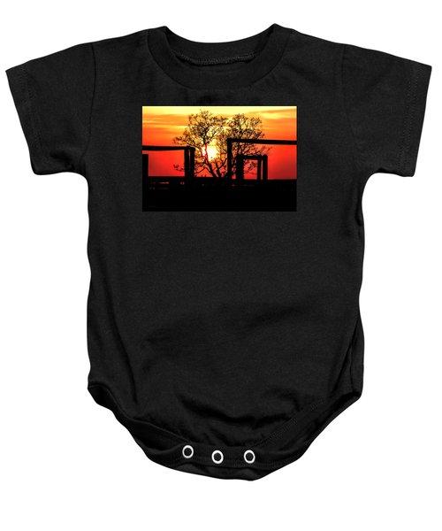 Stockyard Sunset Baby Onesie