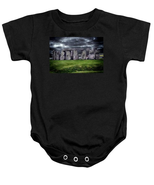 Storm Clouds Over Stonehenge Baby Onesie
