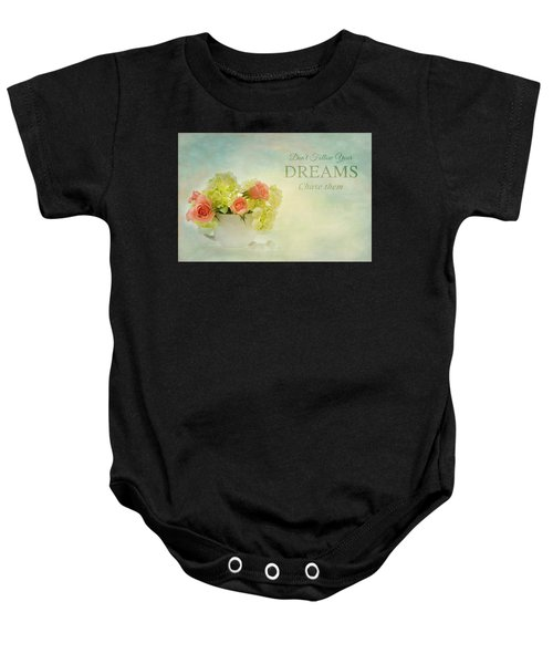 Sugar And Spice With Message Baby Onesie
