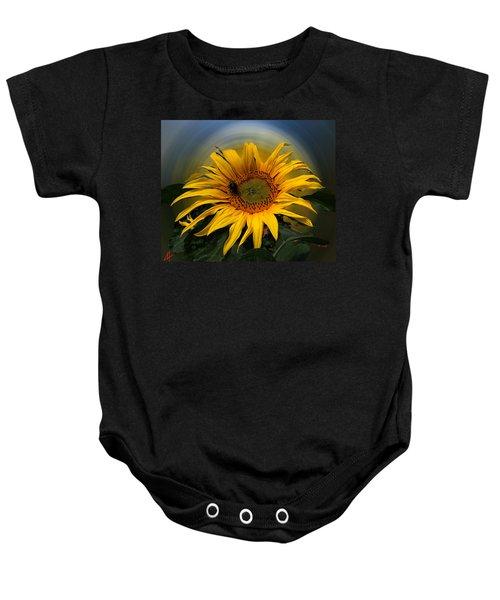 Baby Onesie featuring the photograph Sun Flower Summer 2014 by Colette V Hera  Guggenheim
