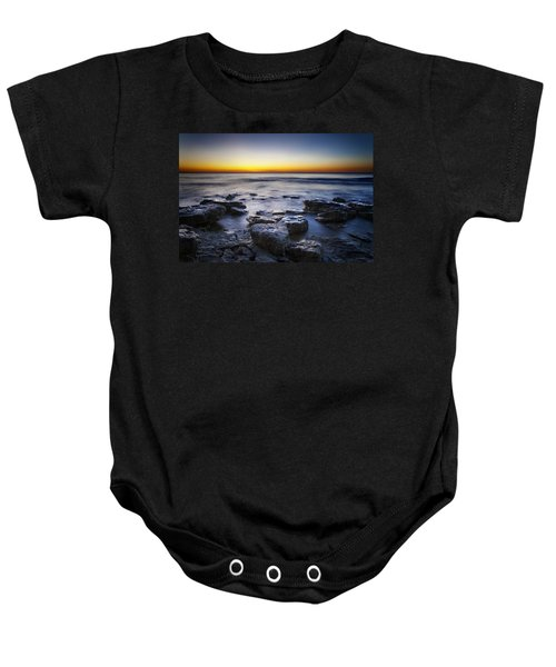 Sunrise At Cave Point Baby Onesie by Scott Norris