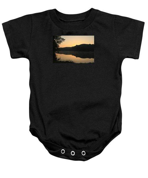 Sunrise At Rose Lake Baby Onesie