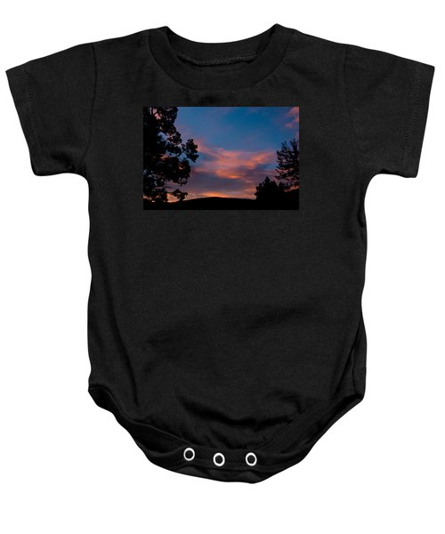 Sunrise Over Mammoth Campground Baby Onesie
