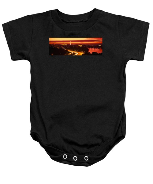 Sunset, Aerial, Washington Dc, District Baby Onesie by Panoramic Images