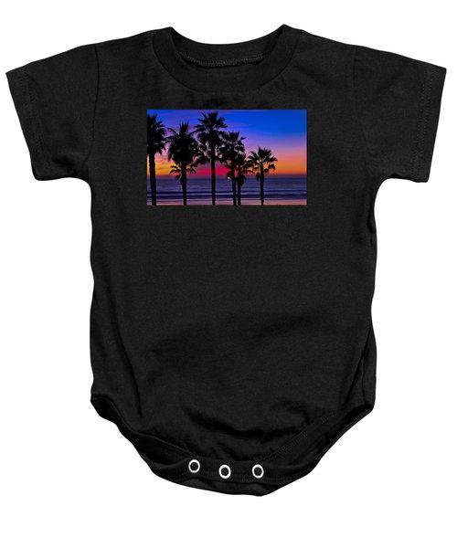 Sunset From The Ocean Park Inn Baby Onesie