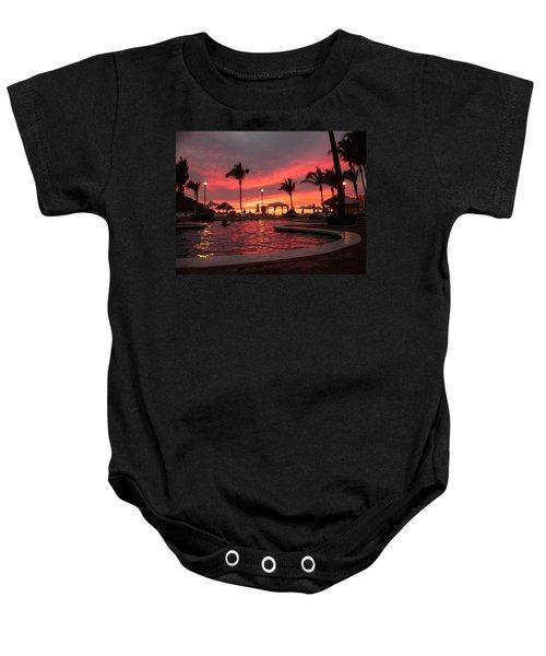 Sunset In Paradise Baby Onesie