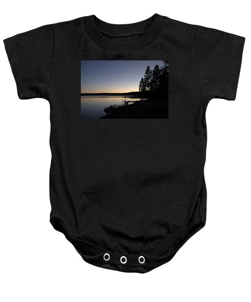 Sunset Over Yellowstone Lake Baby Onesie