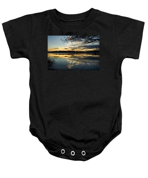 Sunset Reflection Baby Onesie