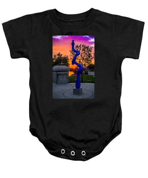 Sunset Sculpture Baby Onesie
