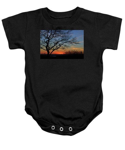 Sunset Tree In Ocean City Md Baby Onesie