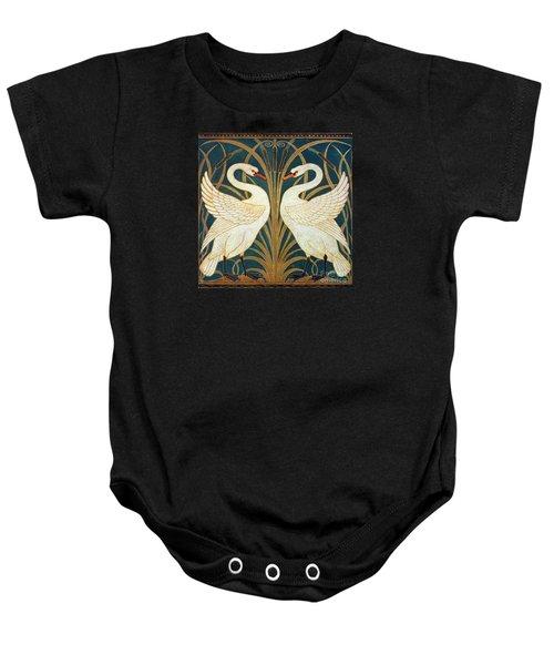 Swan Rush And Iris Baby Onesie