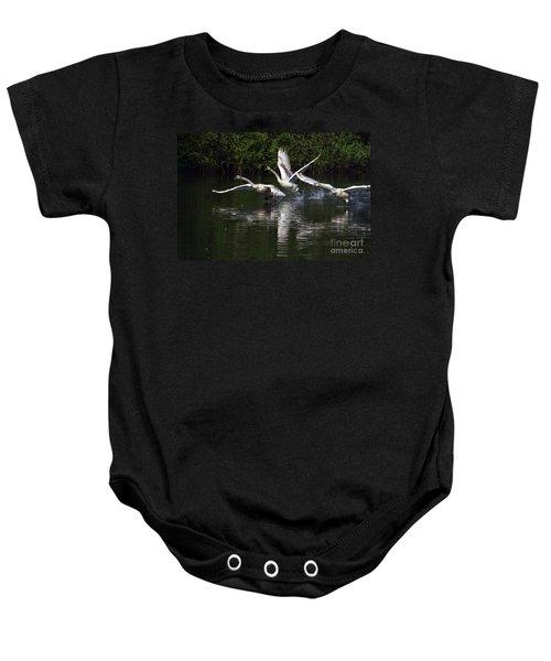 Swan Take-off Baby Onesie
