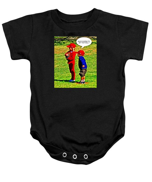 T Ball Fielders Baby Onesie