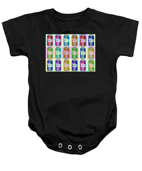 Tab Ode To Andy Warhol Repeat Horizontal Baby Onesie