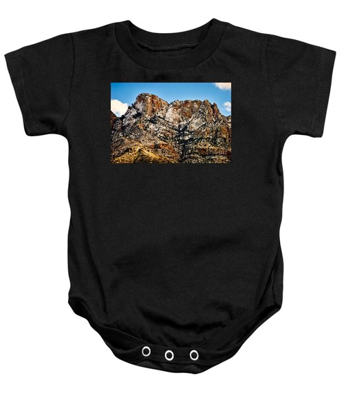 Baby Onesie featuring the photograph Table Mountain In Winter 42 by Mark Myhaver