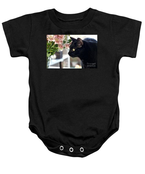 Take Time To Smell The Flowers Baby Onesie