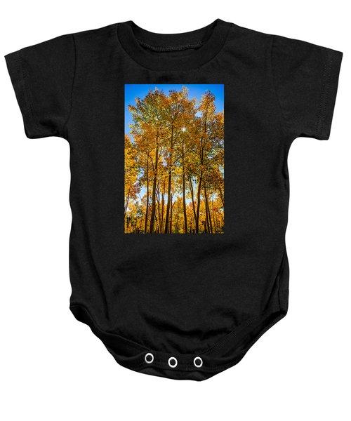 Tall Aspen With Sunstar Baby Onesie