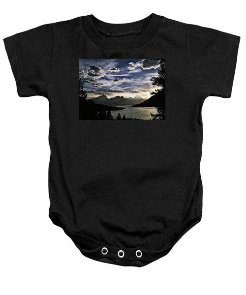Teton Range Sunset Baby Onesie