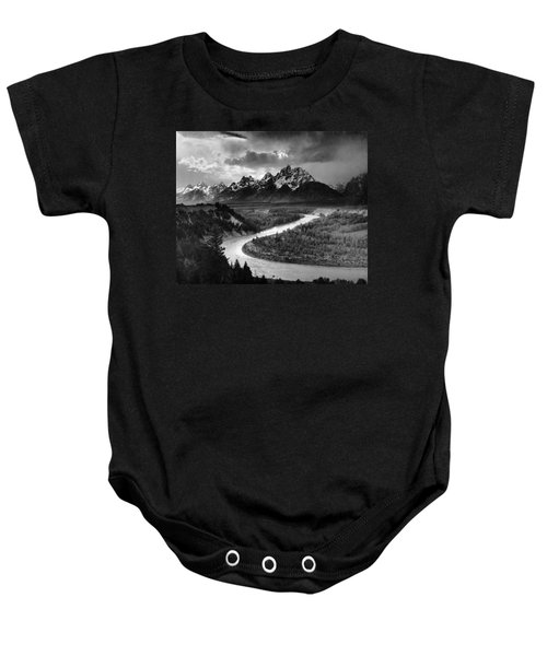 Tetons And The Snake River Baby Onesie
