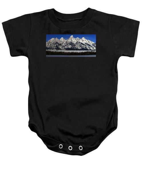 Tetons From Glacier View Overlook Baby Onesie