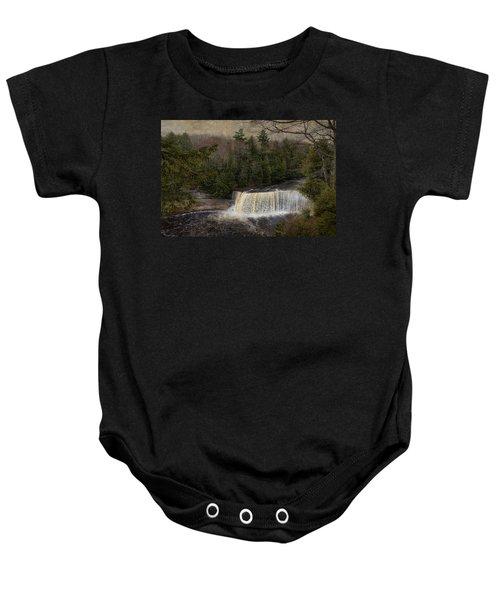 Textured Tahquamenon River Michigan Baby Onesie