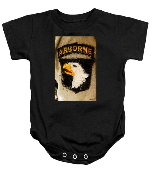 The 101st Airborne Emblem Painting Baby Onesie
