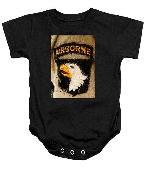 The 101st Airborne Emblem Painting Baby Onesie